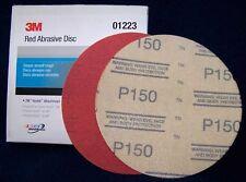 3M™ 01223 316U Series Abrasive Disc, 6 in Dia, P150 Grit, Hook and Loop, Red