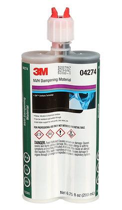 3M™ Duramix™ 4274 NVH Dampening Material, 200 mL Cartridge, Liquid, Black/Clear,