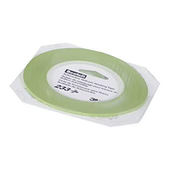Scotch® 26343 233+ Series Performance Masking Tape, 55 m x 3 mm, Green