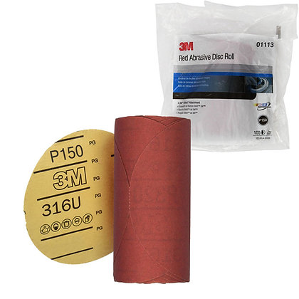 3M™ 01113 316U Series Abrasive Disc, 6 in Dia, P150 Grit, PSA
