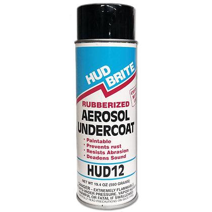 Hud Brite 12, Rubberized Aerosol Undercoat, Satin Black