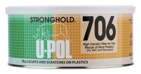 U-POL® UP7061 Flexible High Density Body Filler, 600 mL Tin, Black, Paste