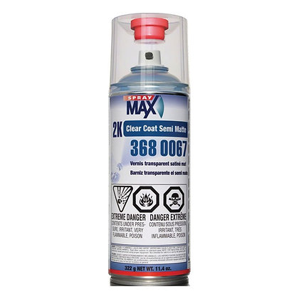 SprayMax® 3680067 2K Clear Coat, 11.4 oz, Satin