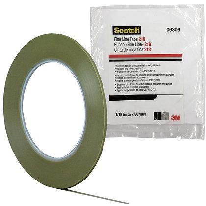Scotch® 06306 218 Series Fine Line Tape, 60 yd x 1/16 in, 5 mil THK