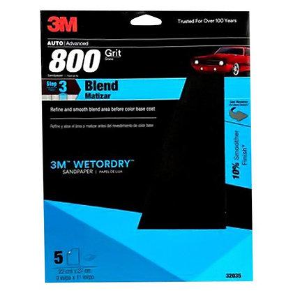 Wetordry™ 32035 Sandpaper, 9 in W x 11 in L, 800 Grit, Aluminum Oxide Abrasive