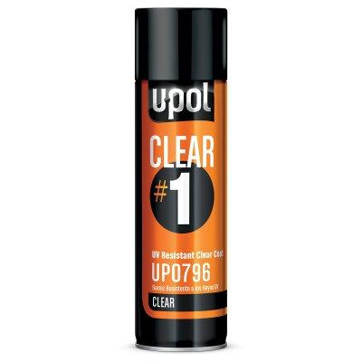 U-POL® UP0796 CLEAR#1 UV Resistant Clear Coat, 12.2 oz Aerosol, High Gloss