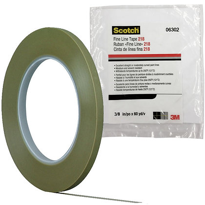 Scotch® 06302 218 Series Fine Line Tape, 60 yd x 3/8 in, 5 mil THK