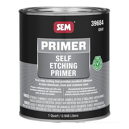 SEM® 39684 Self-Etching Primer, 1 qt Round Can, Gray