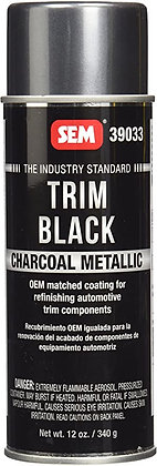 SEM Trim Black 39033 Trim Paint, 16 oz Aerosol Can, Charcoal Metallic