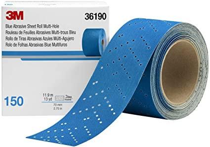 3M™ 36190 321U Series Multi-Hole Abrasive Sheet Roll, 2-3/4 in W x 13 yd L