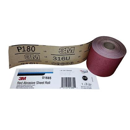 3M™ 01685 316U Series Abrasive Sheet Roll, 2-3/4 in W x 25 yd L, P180 Grit