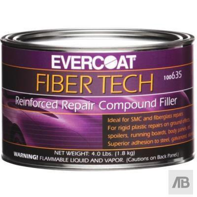 EVERCOAT® FIBER TECH® 100635 Reinforced Repair Compound Filler, 0.5 gal Can