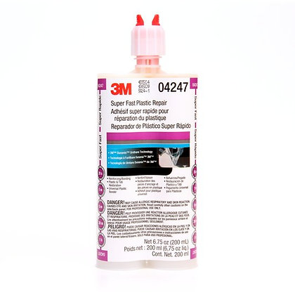 3M™ Duramix™ 04247 Super Fast Plastic Repair, 200 mL Duo-Pak Cartridge, Viscous,