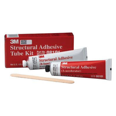 3M™ 08101 2-Part Structural Adhesive, 2 oz Tube, Paste, Brown/White, 24 hr Curin