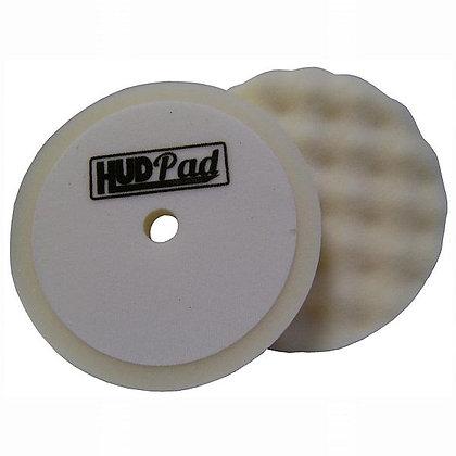 "HUD-23 8"" Waffle Polishing Pads, 2pk, White"