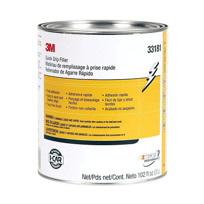 3M™ 33181 Quick Grip Body Filler, 1 gal Can, Red