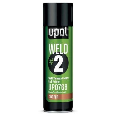 U-POL® UP0768 WELD#2 Weld-Through Primer, 12 oz Aerosol, Copper