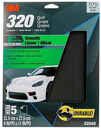 Wetordry™ 32040 Sandpaper, 9 in W x 11 in L, 320 Grit, Black, Wet/Dry