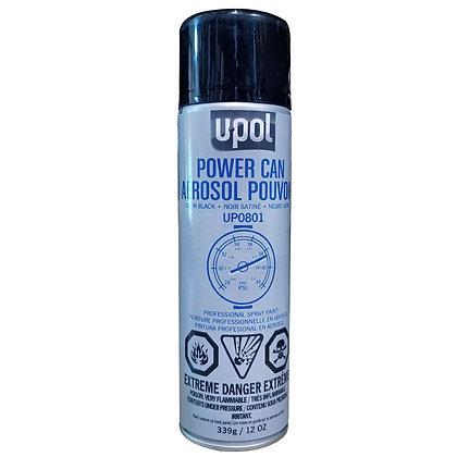 U-POL® Power Can UP0801 Spray Paint, 500 mL Aerosol Can, Satin Black