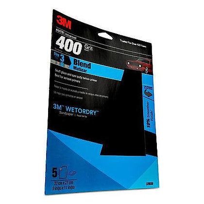 Wetordry™ 32038 Sandpaper, 9 in W x 11 in L, 400 Grit, Aluminum Oxide Abrasive,