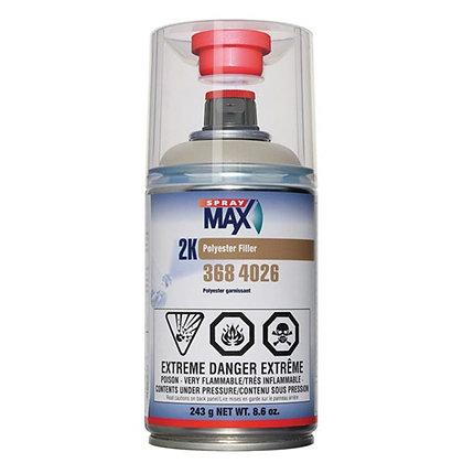 SprayMax® 3684026 2K Polyester Filler, 8.6 oz Aerosol Can, Light Gray