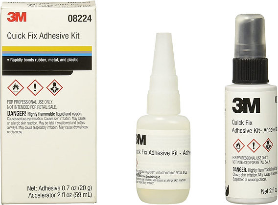 3M™ Automix™ 08224 Quick Fix Cyanoacrylate Adhesive Kit, Bottle, Liquid, Clear,