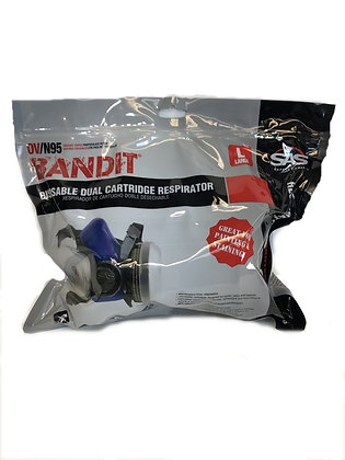 SAS® Bandit® 8661-93 Disposable Half-Mask Respirator, Large, N95 Filter