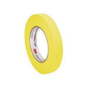 "3M™ 06652 Automotive Refinishing Masking Tape, 3/4"" Yellow"