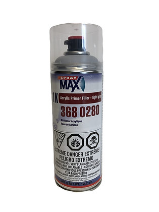 SprayMax® 3680280 1K Acrylic Primer Filler, 12 oz Aerosol Can, Light Gray