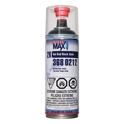 SprayMax® 3680212 2K Hot Rod Spray Paint, 12 oz Aerosol Can, Black