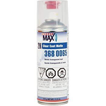 SprayMax® 3680065 2K Clear Coat, 11.2 oz, Matte