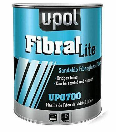 U-POL® FIBRAL LITE UP0700 Lite Fiber Glass Filler, 3 L Tin, Yellow