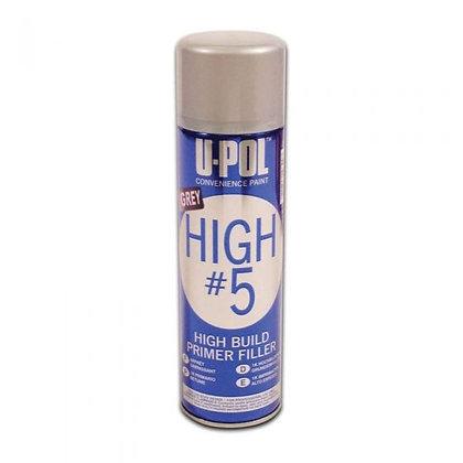 U-POL® UP0791V HIGH #5 High-Build Primer, 12 oz Aerosol, Gray