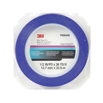 Scotch® 06408 471+ Series Fine Line Masking Tape, 36 yd x 1/2 in, 5.3 mil THK, I