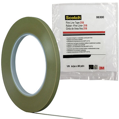 Scotch® 06300 218 Series Fine Line Tape, 60 yd x 1/8 in, 5 mil THK