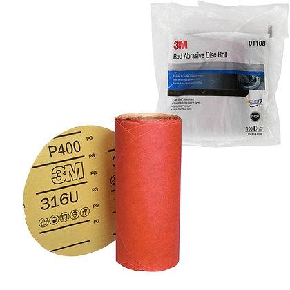 3M™ 01108 316U Series Abrasive Disc, 6 in Dia, P400 Grit, PSA