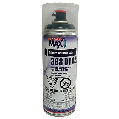 SprayMax® 3680102 1K Trim Paint, 10.5 oz Aerosol Can, Satin Black