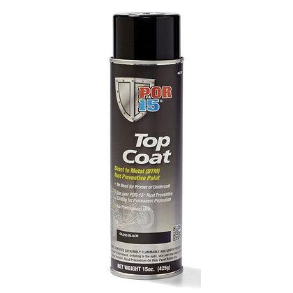 POR-15® 45818 Top Coat DTM Paint, 14 oz Aerosol Can, Gloss Black