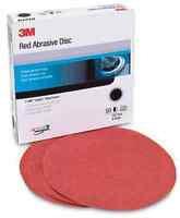 3M™ 01187 316U Series Abrasive Disc, 6 in Dia, P800 Grit, Hook and Loop, Red