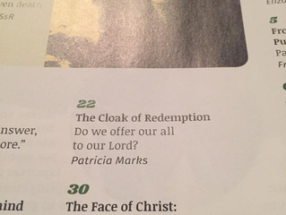 My First Printed Publication! The Face of Christ