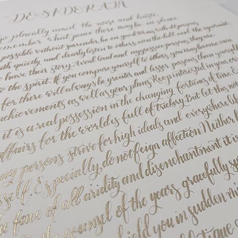 modern calligraphy calligrapher custom personalised