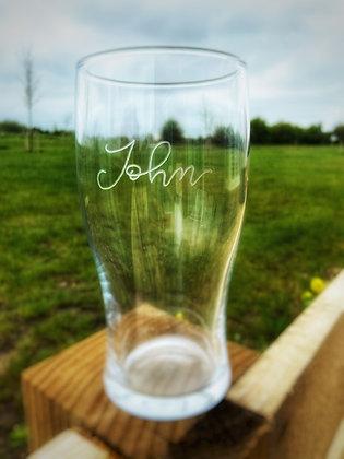 custom hand engraved beer glass
