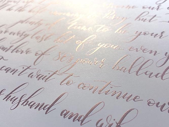 Stylish and elegant modern calligraphy