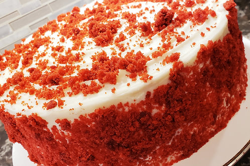 "6"" Red Velvet cheesecake cake"