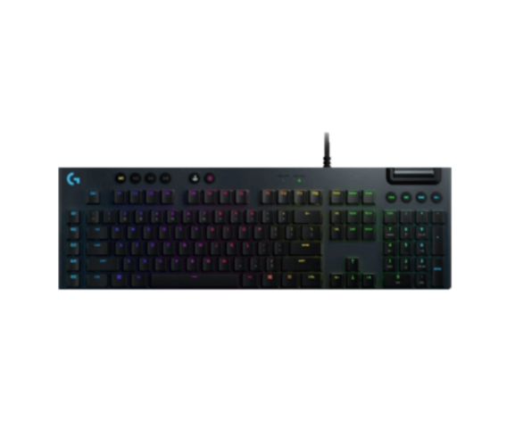 Advanced gaming technologies in a sophisticated ultra-thin design. Fully customizable, equipped with LIGHTSYNC RGB and dedicated G-keys. Engineered for high-performance gameplay with low-profile GL mechanical switches in clicky, tactile, and linear variations. Experience G813 and play the next dimension.