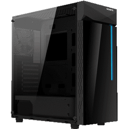 Stylish RGB Light on Black Tempered Glass Front panel With RGB LED Switch and 2 USB 3.0 on I/O Panel Full-Size Black Tempered Glass Side Panel PSU Shroud Design Detachable Dust Filter Liquid Cooling Compatible