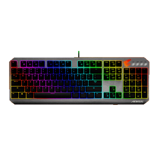 SUPERIOR CHERRY MX GAMING KEY-SWITCH Cherry RED key provides superior key response and an optimized actuation force. Reduced key actuation distance of 2mm improves keyboard response time while remaining whisper silent during operation. RGB FUSION 2.0 With 16.7M customizable color options and numerous lighting effects, you can choose lighting effects or synchronize with other AORUS devices.