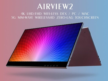 AirView2 touchscreen portable monitor offers 4K wireless connectivity