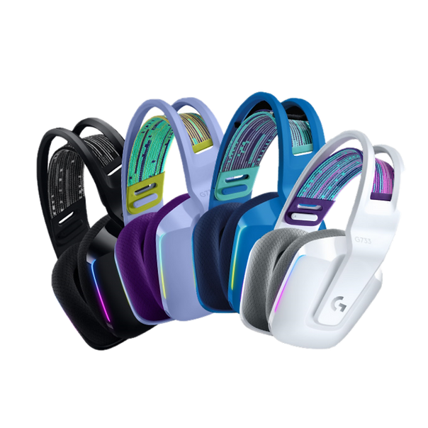 Finally, a headset that can be as expressive as you. G733 is wireless and designed for comfort. And it's outfitted with all the surround sound, voice filters, and advanced lighting you need to look, sound, and play with more style than ever
