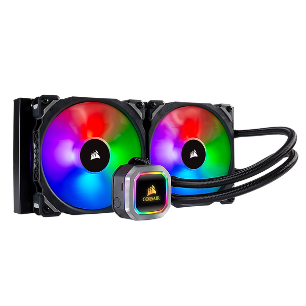 The CORSAIR Hydro Series H115i RGB PLATINUM is an all-in-one liquid CPU cooler with a 280mm radiator and vivid RGB lighting that's built for extreme CPU cooling.